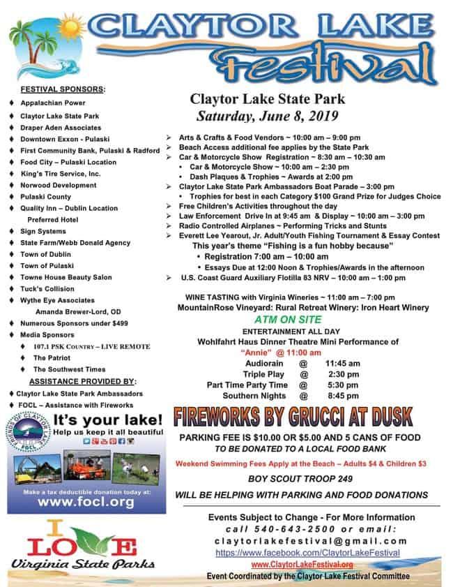 Claytor Lake Festival still on – rain or shine…