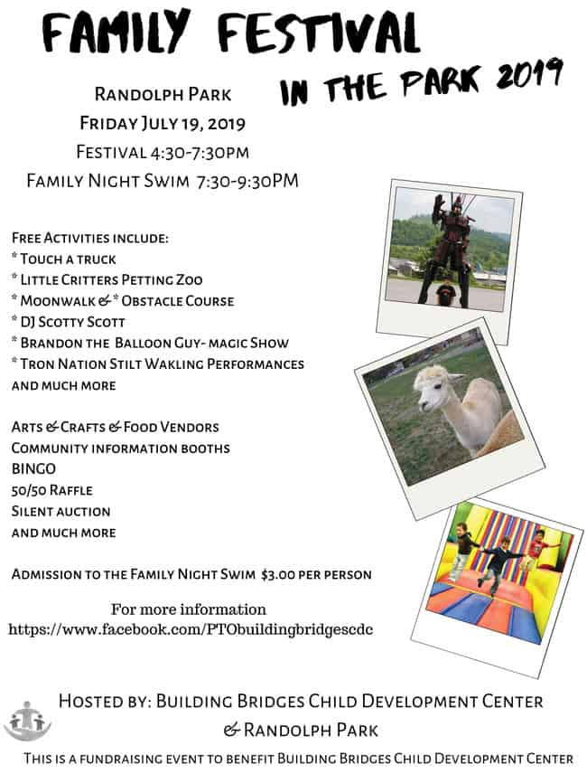 Coming Friday … Family Festival In The Park 2019 at Randolph Park
