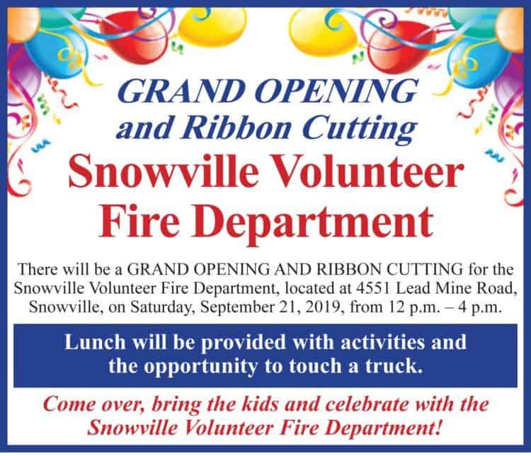 Coming this Saturday in Snowville!