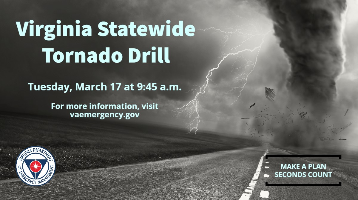 Statewide Tornado Drill set for Tuesday morning