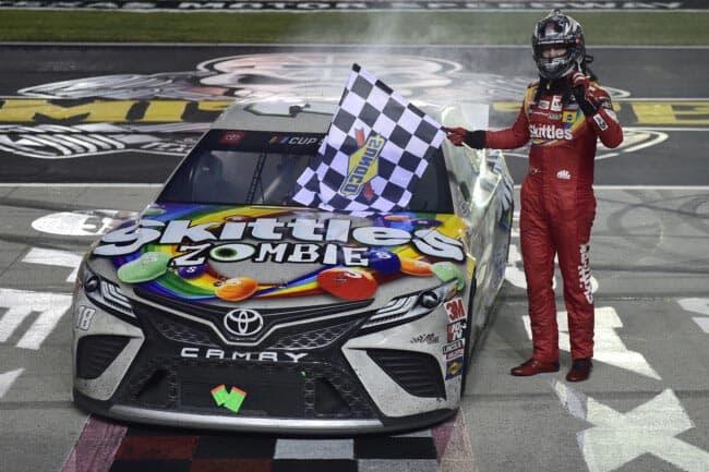 Kyle Busch wins rain-delayed NASCAR playoff race in Texas