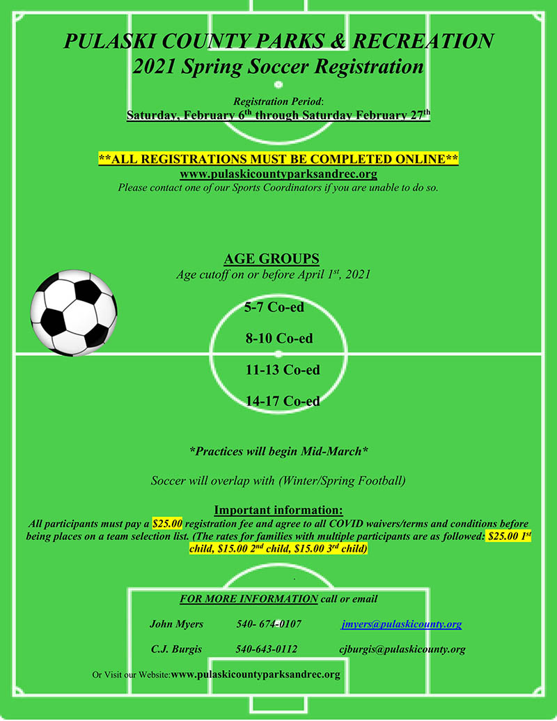 Spring Soccer Signup Underway